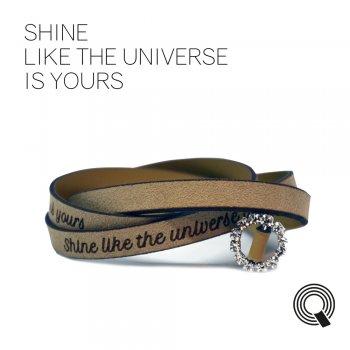 "Браслеты квоутлеты ""Shine like the universe is yours"", кремовый"