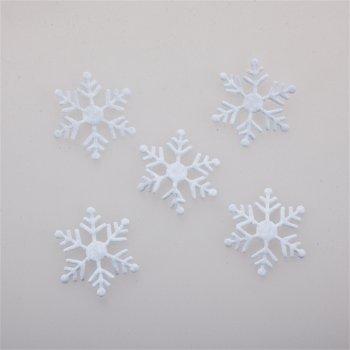 Текстильные дутые элементы снежинка 30 мм