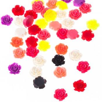Пластиковые  клеевые элементы роза 18 мм