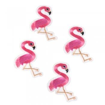 Тканевая нашивка Фламинго