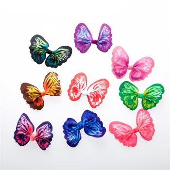 Текстильні елементи метелики мікс кольорів