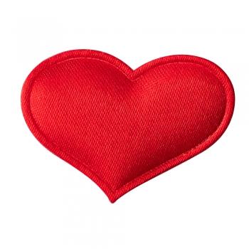 Текстильний дутий елемент Серце червоне