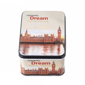 "Коробочка бляшана прямокутна ""Лондон"" 13х9,5х6,5см"
