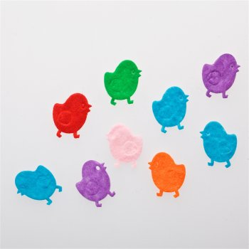 Текстильные дутые элементы микс цветов цыплёнок