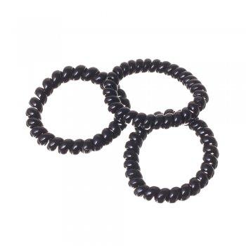 Силіконова резинка для волосся, чорна