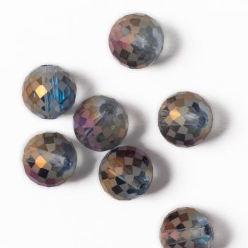 Хрустальная бусина круглая 12 мм фиолетовая