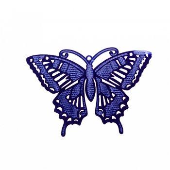Кулон металлический синяя бабочка