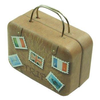 Коробочка жестяная в виде чемоданчика, 7,5х5,5х4 см
