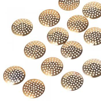 Ґратчасті основи для брошок, золото, 25 мм