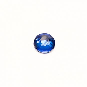 Стрази клейові пластикові 6 мм сині уп. 25шт