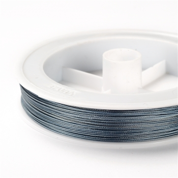 Металева волосінь 100 м (+-10%). сіро-синя. 0,45 мм