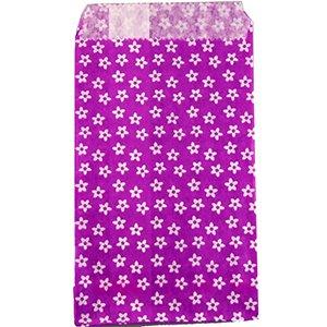Пакети паперові. Фіолетовий з малюнком. 8х15 см