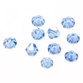 Хрустальные бусины прозрачный светло-синий