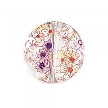 Пластик з квітковим візерунком. Коло плоске