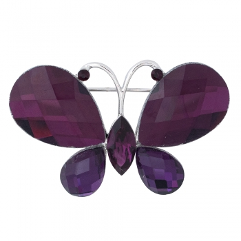 Брошка Метелик фіолетовий