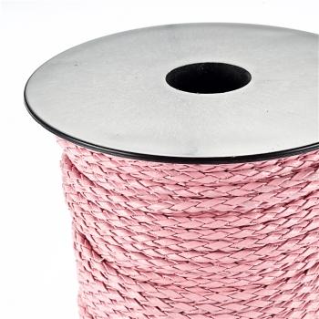 Шнур-кіска рожевий шкірзамінник 3 мм