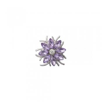 Бусина кнопка цветок 8-лепестковый сиреневый