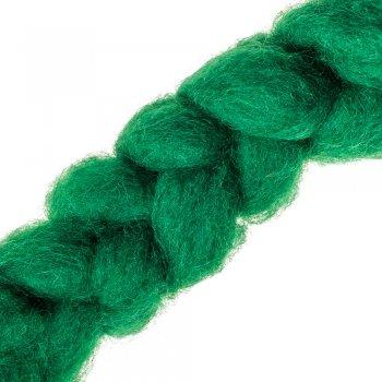 Вовна-кардочёс новозеландська темно-зелена 27 мкм 25 г, К5007