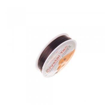 Резинка силиконовая толстая, коричневый, 0.8мм