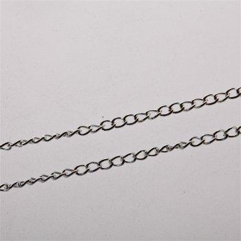 Цепь серебристая мелкая панцирная 2х3,3х0,5 мм
