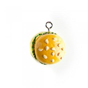 Бургеры. Подвески из полимерной глины микс цветов сладости
