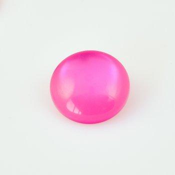 Пластикові кабошони 22 мм рожевий коло