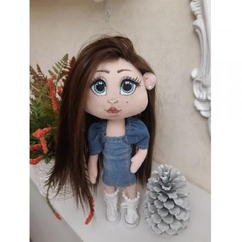 Лялька в Джинсовому платті (ручна робота)