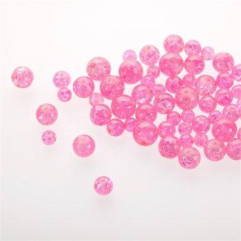 Скло з кракелюрами. Рожевий. Мікс розмірів.