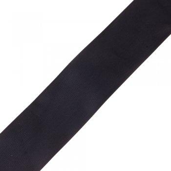 Лента репсовая 50 мм черная