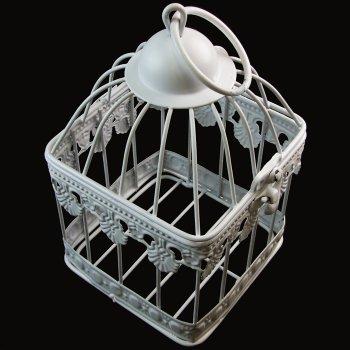 Клітка металева, біла