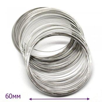 Жестяная основа для браслета тонкая, диаметр 60мм