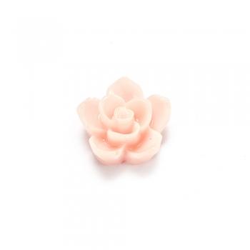 Пластиковые клеевые элементы. Цветок персиковый