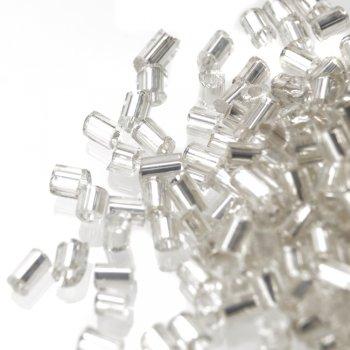 Бисер-рубка прозрачный цилиндр 2.1 мм стекло