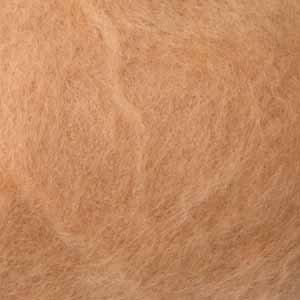 Шерсть-кардочёс новозеландская кремово-розовая 27 мкм 25г, К4006