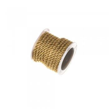 Крученный шнур золотистый люрекс 4 мм 2 м