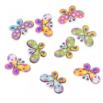Гудзик дерев'яний Весняний метелик