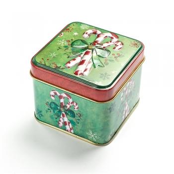 Коробочка жестяная 7,5х7,5х6,5 см Конфеты