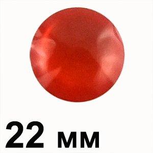 Пластикові кабошони 22 мм червоне коло