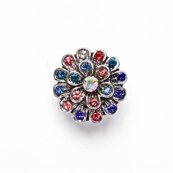 Намистина кнопка SNAP квітка кольорова