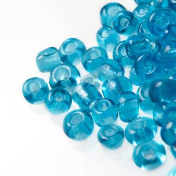Бісер круглий, великий, блакитний. Калібр 6 (3,6 мм)
