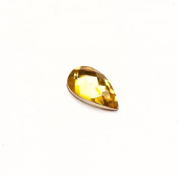 Стрази клейові пластикові 12х7 мм жовті уп. 15шт