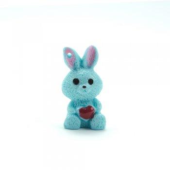Декоративний елемент з полімерної глини, заєць блакитний