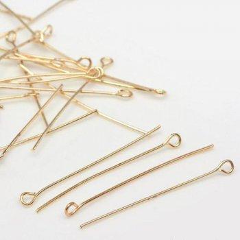 Бижутерные булавки золотой 30 мм