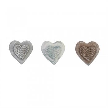 Наклейка пастельный микс керамическое сердце