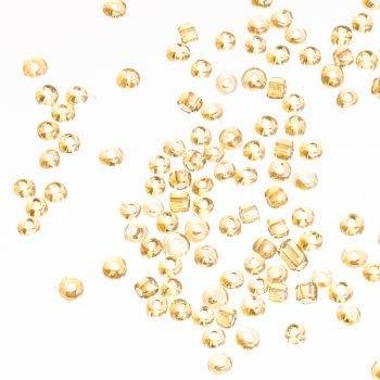 Бисер круглый крупный, тёмно-золотой. Калибр 6 (3,6 мм)