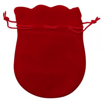 Декоративний мішечок оксамитовий 14х11 см червоний