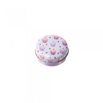 Круглая жестяная коробочка для хранения украшений, микс цветов