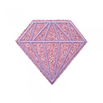 Тканевая нашивка Бриллиант Розовый