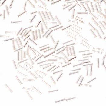 Бісер-стеклярус вогник прозорий 6 мм
