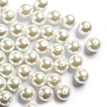 Перли скляні гладкі
